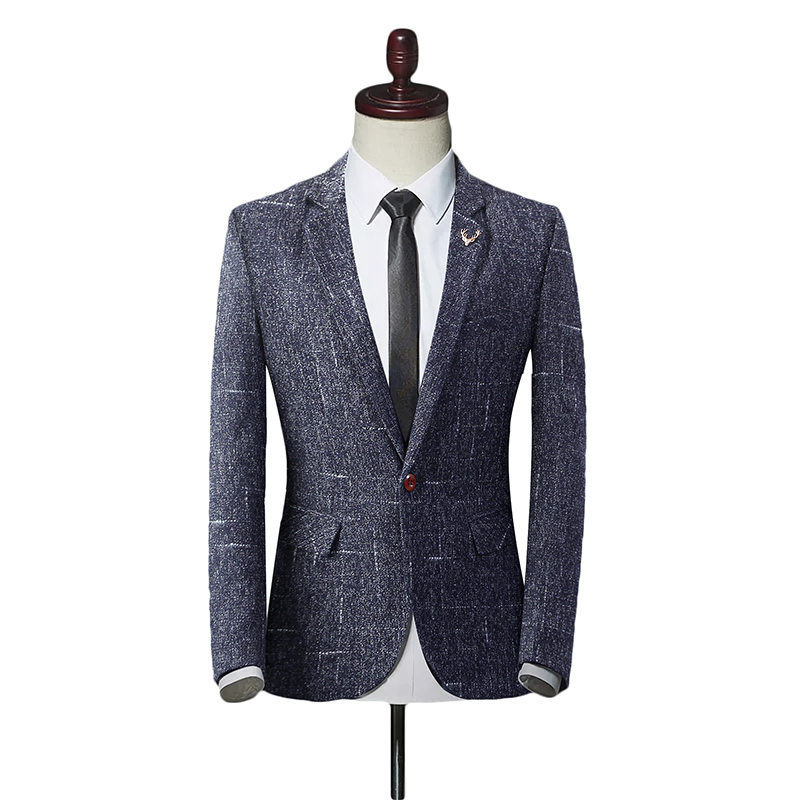 2019 Fashion Brand Men's Suit Jackets Autumn Slim Fit One Button Suit Blazer Fashion New Stylish Formal England Suit Jackets