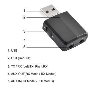 Image 2 - VIKEFON بلوتوث استقبال الارسال بلوتوث ستيريو صغير 5.0 الصوت AUX RCA USB 3.5 مللي متر جاك ل TV PC سيارة عدة محول لاسلكي