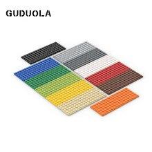 Guduola – plaque de petites particules 3027 6x16 MOC, bloc de construction d'assemblage, plaque de base/panneau bas/brique basse, 3 pièces/lot