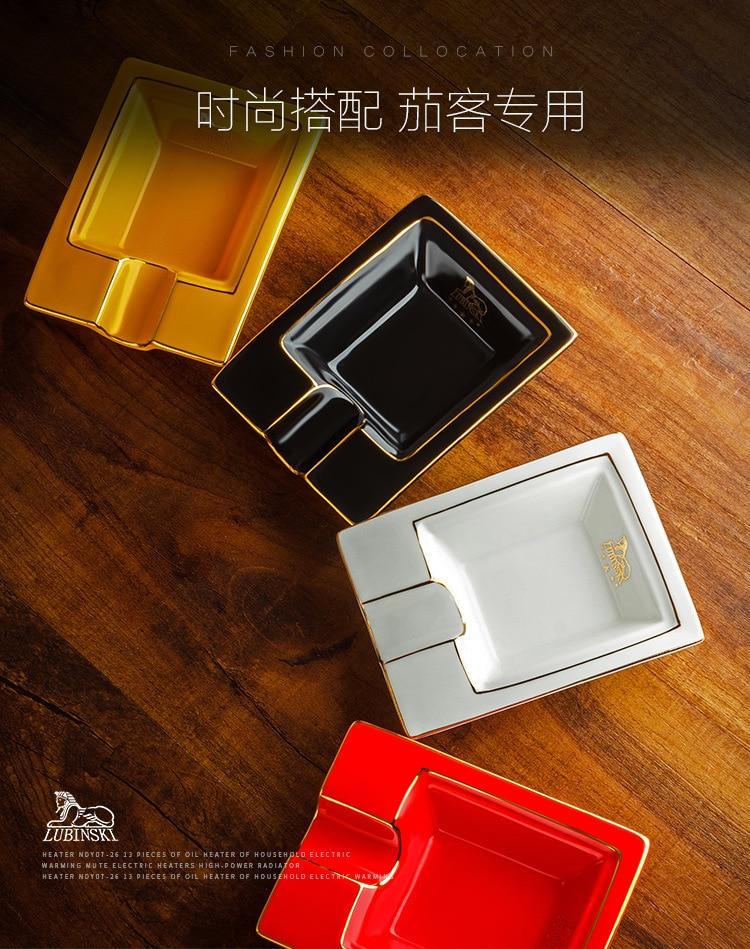 New Orange JiFeng Metal Alloy 1 Cigars Cigar Ashtray Office Home Decoration