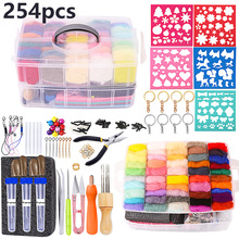 LMDZ Needle Felting Kit - Complete Needle Felting Tools and Supplies with Felt Wool 50 Colors,Felt Molds, High Density Foam Pad