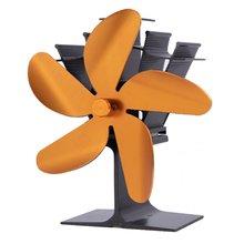 5 лопастей Тепловая печь вентилятор для камина бревна деревянная