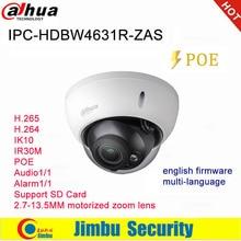 Dahua Ip Camera 6MP POE IPC HDBW4631R ZAS 2.7~13.5mm varifocal motorized lens IR30M IP67 built in SD card slot audio interface