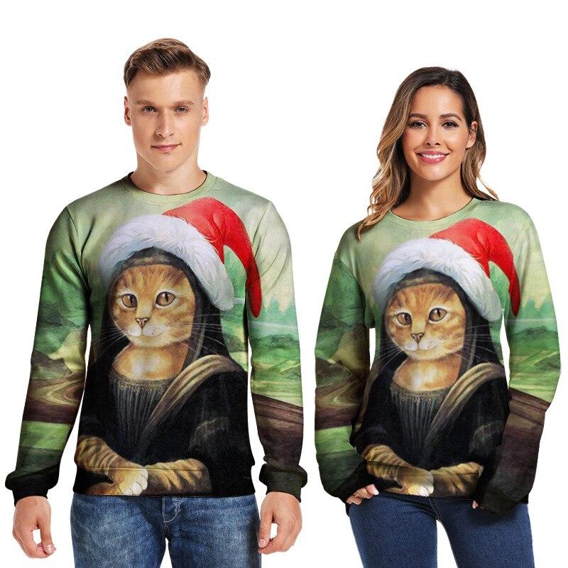 Unisex Ugly Christmas Sweater 3D Print Funny Xmas Pullover Hoodie Sweatshirt Men Women Autumn Winter Plus Size Clothing
