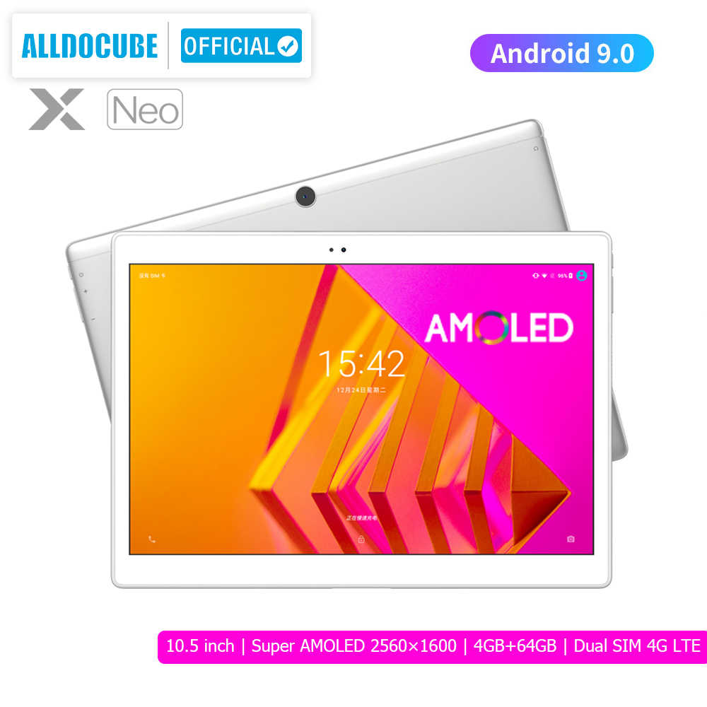 ALLDOCUBE X Neo AMOLED Bildschirm Tablet 10,5 zoll Android 9,0 4GB 64GB 2,5 k 2560 × 1600 IPS dual SIM LTE 4G Tablet PC Bluetooth 5,0
