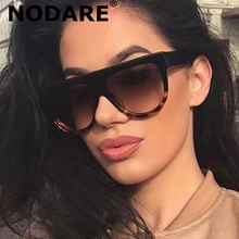 2020 Kim Kardashian Sunglasses Lady Flat Top Eyewear Lunette