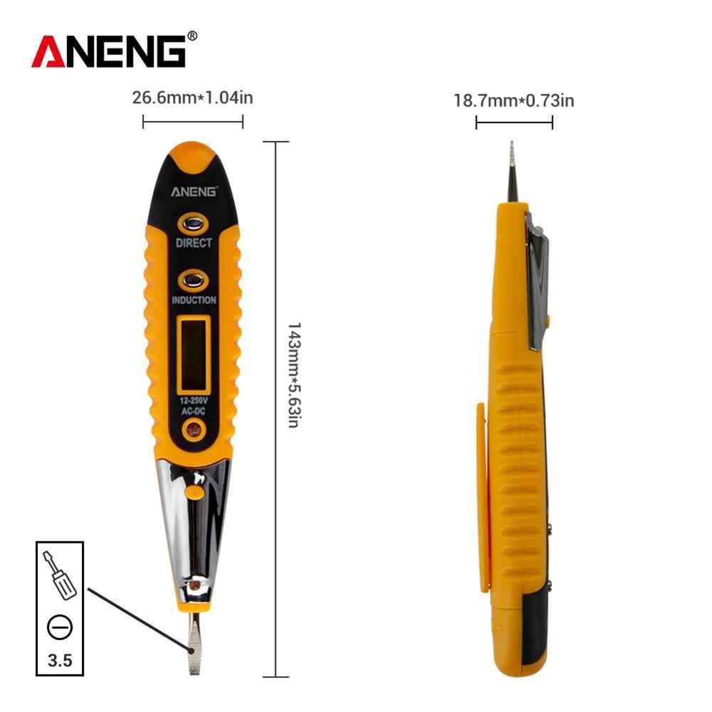 전압계 테스트 연필 다기능 ac/dc lcd 디지털 디스플레이 led 조명 전압 테스트 펜 전압 검출기 테스터 전기