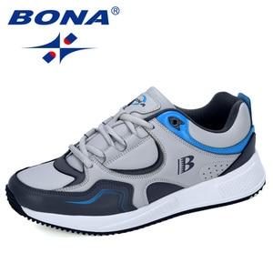 Image 5 - BONA החדש מעצב פרה פיצול ריצה נעלי גברים סניקרס להקפיץ חיצוני ספורט נעלי מקצועי אימון נעלי גבר אופנתי
