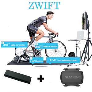 Image 5 - USB ANT+ DONGLE for Zwift Tacx Wahoo Garmin Bkool Indoor Trainer Training One Lap Data ANT USB Sticker Connect with Computer