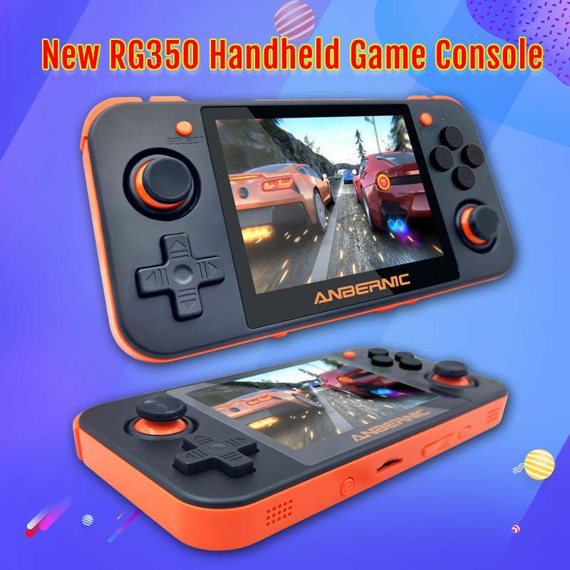 New rg350 console Retro Game Console For PSP RG350 OpenDingux 3.5 inch IPS LCD 16GB ROM 64 Bit Handheld Video Game Player
