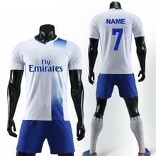 Пользовательские футбольные Джерси персонализировать Футболки для футбольной команды с карманом футбольный тренировочный костюм Футбольная форма с принтом логотипа Номер