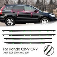 4Pcs Car Outside Window Seal Strips Moulding Trim Strips Waterproof Weatherstrips Seal Belt For Honda CR V CRV 2007 2011
