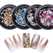 Koop 3D Strass Set Diverse Diy Gems Nieuwe Charmante Mix Nail Art Decoratie Rose Sieraden Gel Glitter Nail Art Decoratie(China)