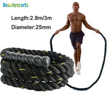 3m* 25mm Heavy Jump Rope Crossfit Weighted Battle Skipping Ropes Power Improve Strenght Training Fitness Home Gym Equipment