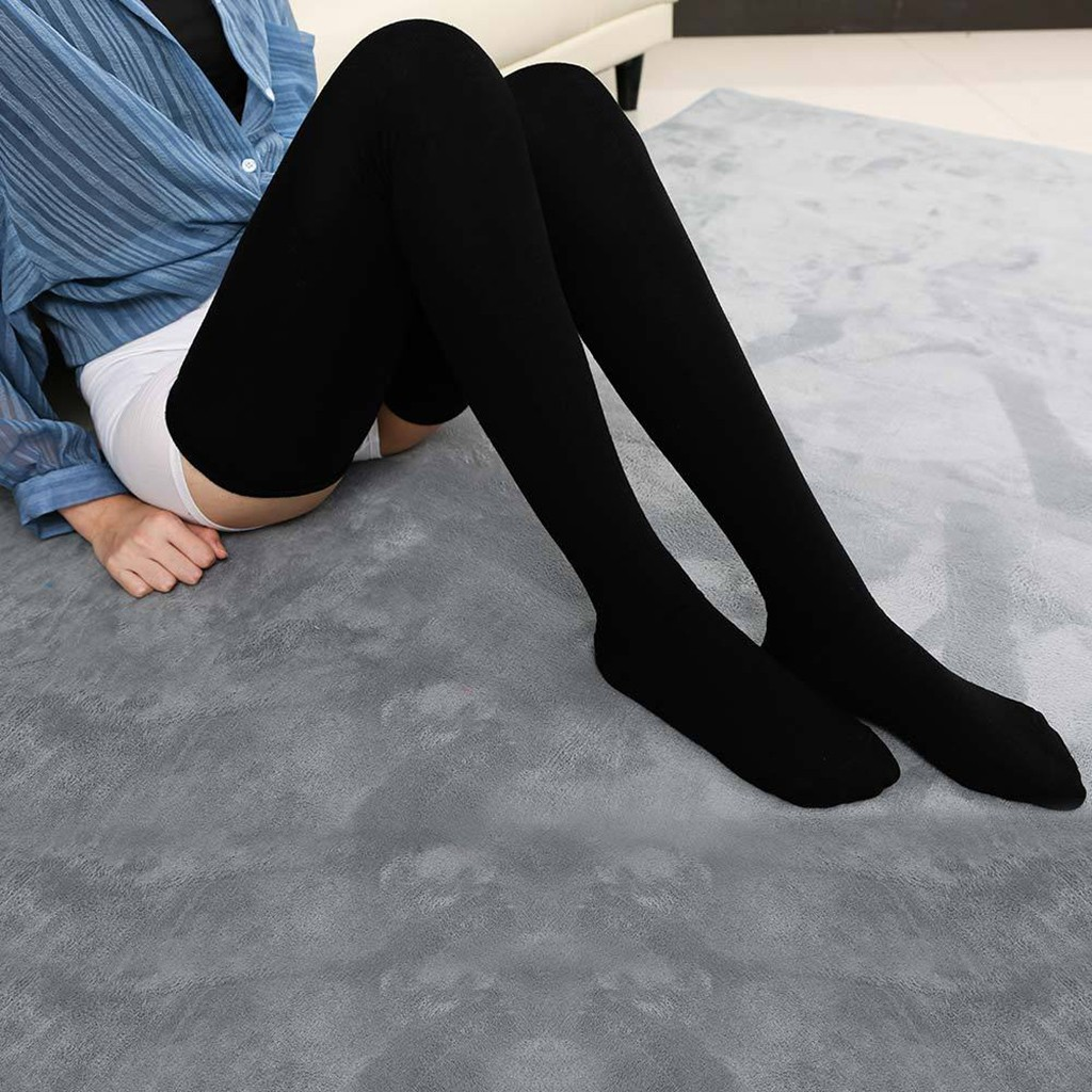 NEW Knee Socks Women Cotton Thigh High Over The Knee Stockings For Ladies Girls 2021 Warm 80cm Super Long Stocking Sexy Medias