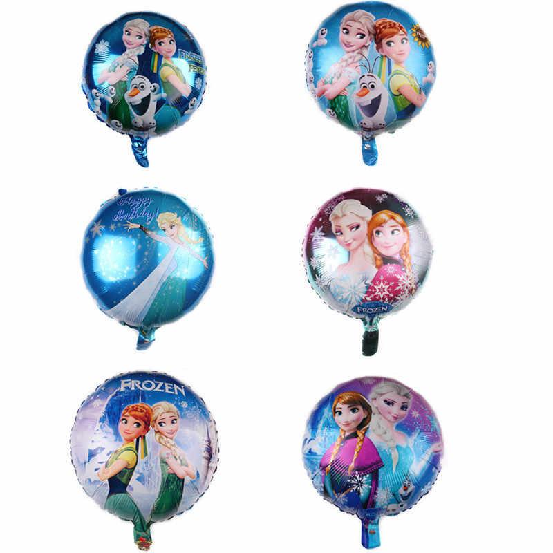 קפוא אלזה אנה נסיכת אלומיניום בלון מסיבת יום הולדת קישוט לסכל בלון ילדים צעצועי חתונה ספקי צד בלוני