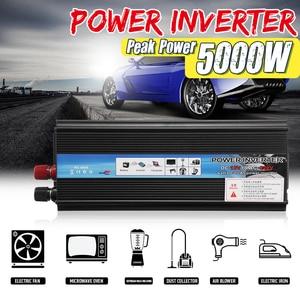 KROAK Car Inverter 12V 220V 5000W Pe ak Car Power Inverter Voltage Transformer Converter 12V To 220V Solar Inversor Black Style