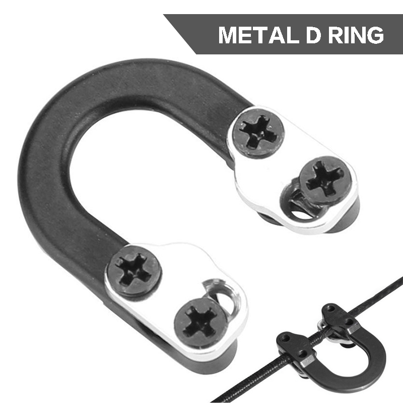 Archery D Loop Release D Ring Buckle Rope Arrow U Nock Compound Bow Metal Bowstring Hunting Aid Accessories