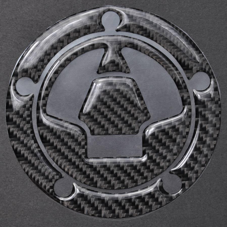 3D Tanque De Fibra De Carbono Boné De Gás Tampa de Enchimento De Almofada Decalques Da Etiqueta Fit Para KAWASAKI ZX-6R/10R/12R/14R Z1000 Z1000SX Z800 Z750