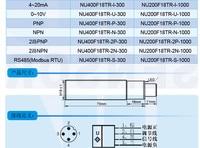 car distance human body liquid level measurement ultrasonic transducer NU200F18TR 1MD 500mm 1000mm M18 Ultrasonic ranging sensor