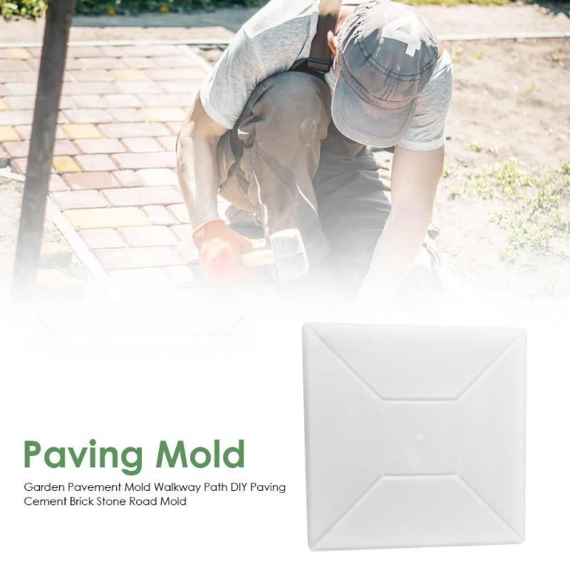 cheapest 43 5 43 5cm plastic path maker mold manually paving cement brick stone road DIY mold concrete molds tool for garden
