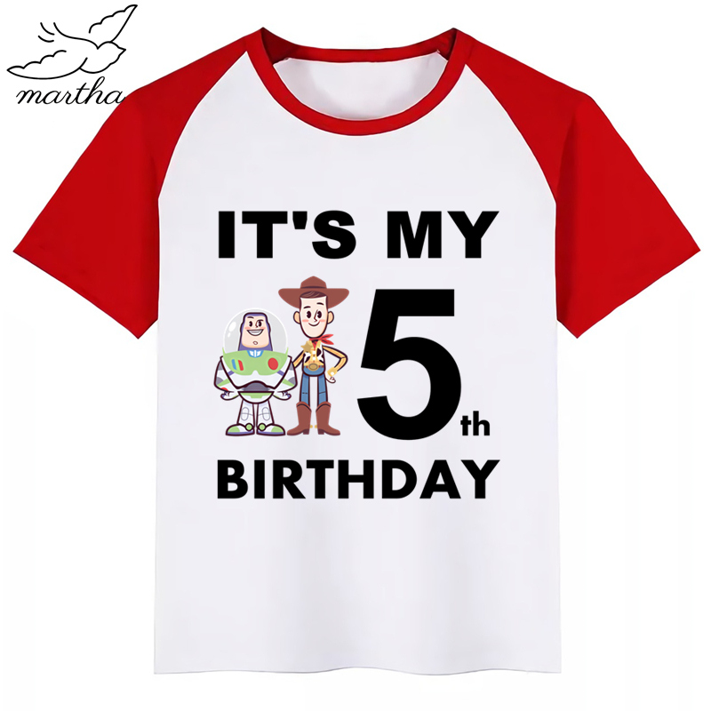 Toy Story 4 Boys Summer Cotton Kids T-shirt Tee Top Short Sleeve Cloth Outfit