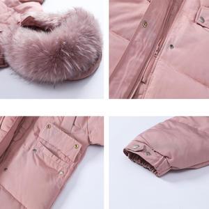 Image 5 - Długa kurtka zimowa kobiety Parka luźne ciepłe grube dół bawełna płaszcz kobiet wyściełane Oversize Student z kapturem kobieta kurtka zimowa Q2028