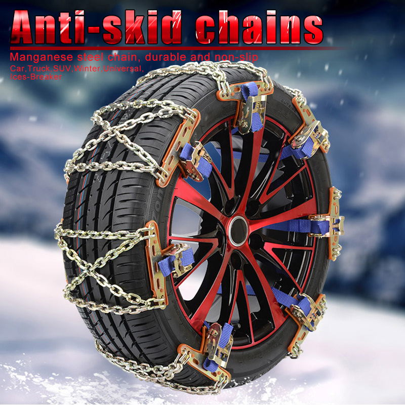 Wheel Tire Snow Anti skid Chains for Car Truck SUV Winter Universal Ices Breaker Outdoor B88|Tire Accessories| |  -
