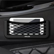 Автомобильная сетка для хранения сумка держатель для телефона карманный органайзер для Toyota Hilux surf vigo revo 2017 2018 аксессуары