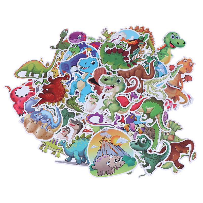 <font><b>50</b></font> Pcs Cartoon Dinosaur Mixed Series <font><b>Stickers</b></font> For Notebook PC Skateboard Bicycle Car Motorcycle DIY Waterproof Child Toy <font><b>Sticker</b></font> image
