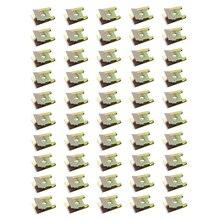 LEEPEE 50pcs 청동 색 스프링 금속 클립 자동 패스너 클립 철 너트 자동차 도어 패널 첨탑 스크류베이스 U 형 클립