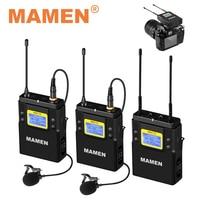 MAMEN-micrófono inalámbrico profesional UHF WMIC-01, receptor de 50 canales, alcance de 60m, para cámaras SLR, teléfonos y Vlog