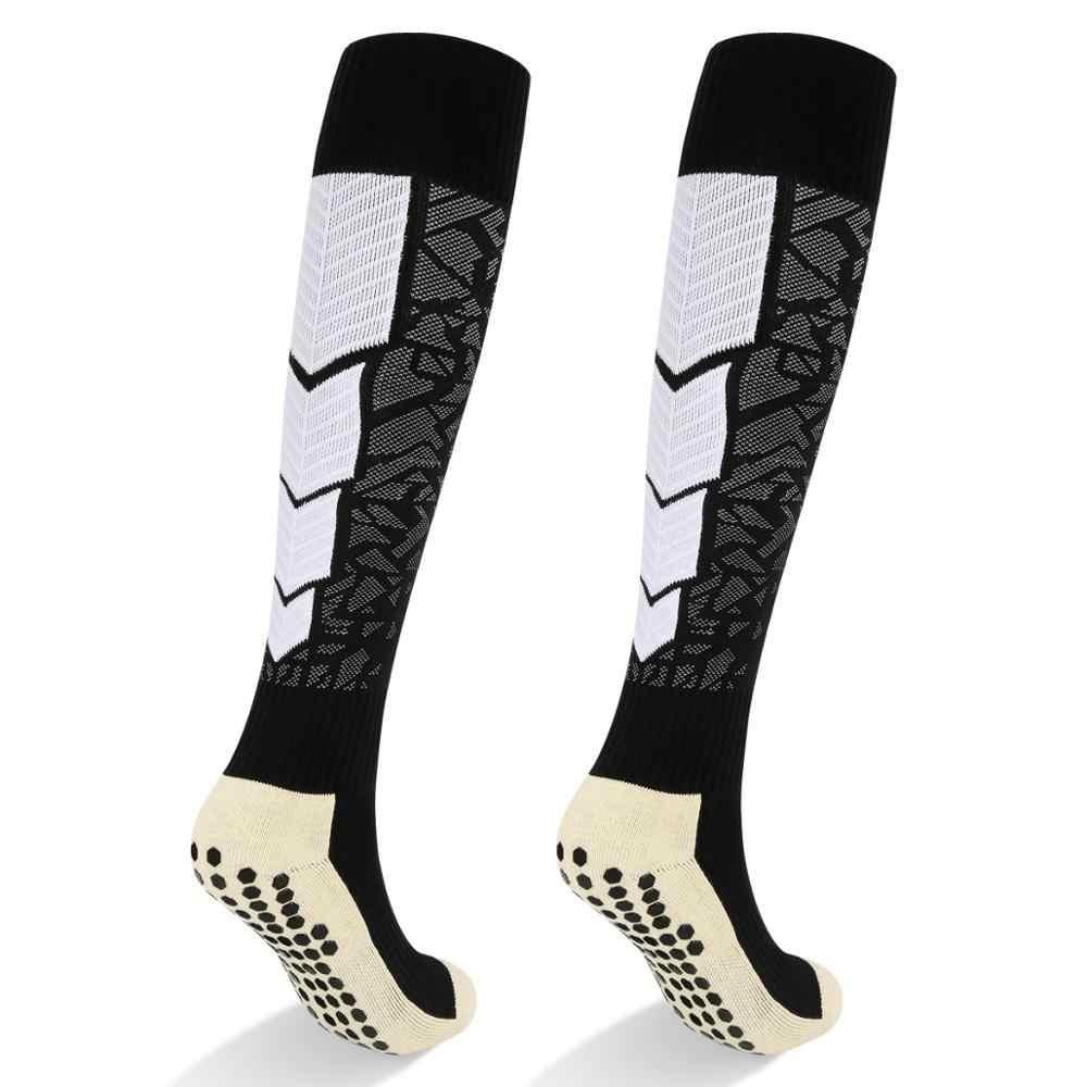 YUEDGE marka erkekler profesyonel yetişkin nefes yastık pamuk futbolcu çorapları diz yüksek erkek çorapları spor futbol çorapları