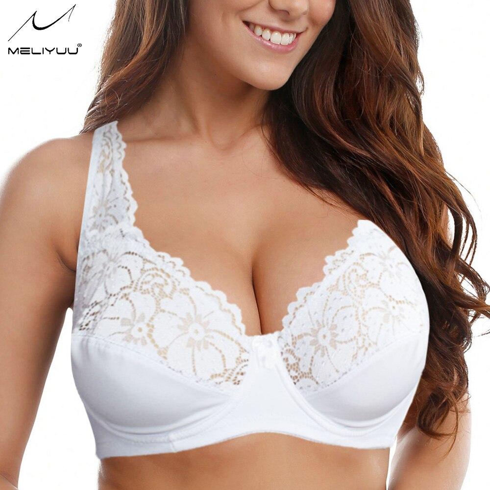 Womens Lace Bralette Bras Sexy Lingerie Underwired Female Underwear Plus Size Brassiere Size 80-105 B C D E F Cup 2