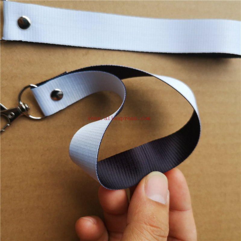 sublimation white blank keychains polyester key ring hot transfer printing diy consumables 30pcs/lot image