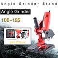 Winkel Grinder Stand Winkel Grinder Halterung Halter Unterstützung Für 100-125 Cutter Winkel Grinder Gusseisen Basis Power Tool zubehör