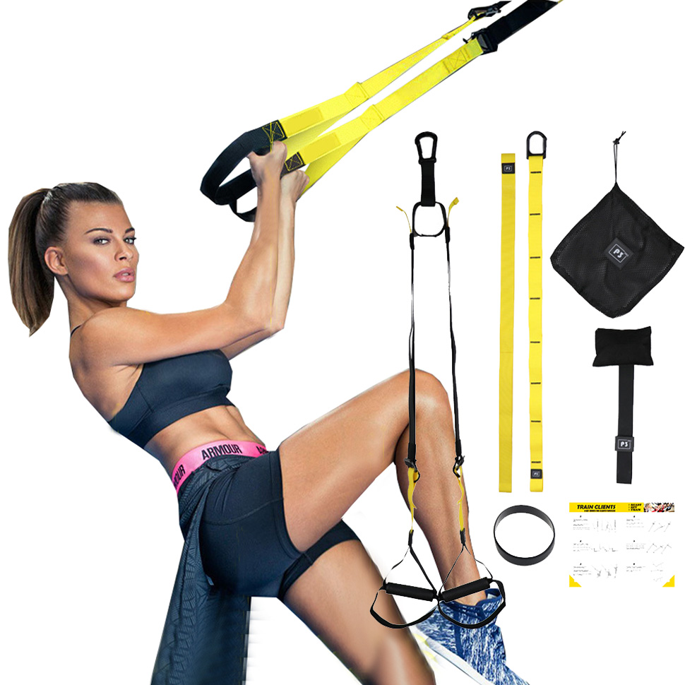 Resistance Bands Fitness Hanging Belt Training Gym Home Workout Suspension Exercise Pull Rope Stretching Elastic Straps