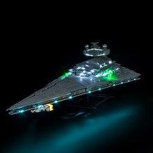 Kit de luz led para 75252 imperial destroyer brinquedos blocos de construção (os blocos conjunto não incluído)