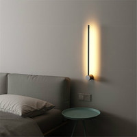 Nordic Modern Metal Wall Lamp Minimal Personality Creative Corridor Background Wall Light Living Room Decor Bedroom Bedside Lamp