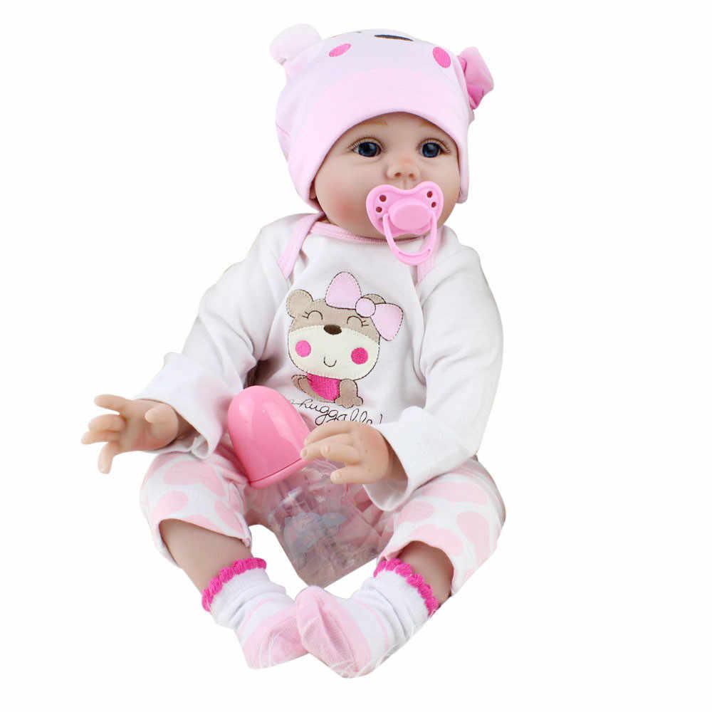 Игрушки 55 см для детей, набор игровой куклы, реалистичный реборн для новорожденных, кукла для девочек, Рождественский подарок на день рождения, Juguetes 2019
