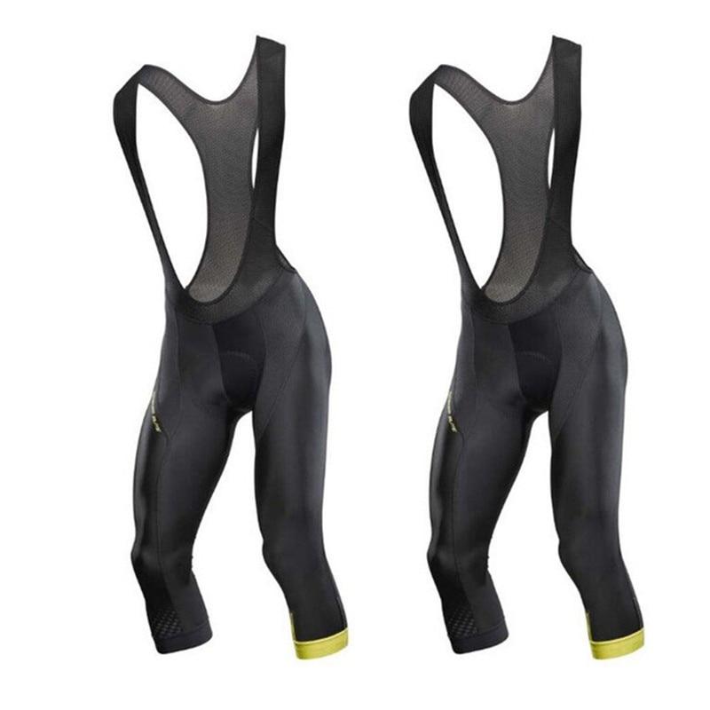 Брюки MAVIC 3/4 мужские летние велосипедные укороченные штаны уличные велосипедные Износостойкие высококачественные гелевые подкладки велос...