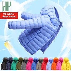 Image 1 - 1 4 7 12 14 chaqueta de invierno para niños, 90%, chaqueta ligera de plumas de pato para niños, chaquetas de otoño para niñas, abrigos parka para niños