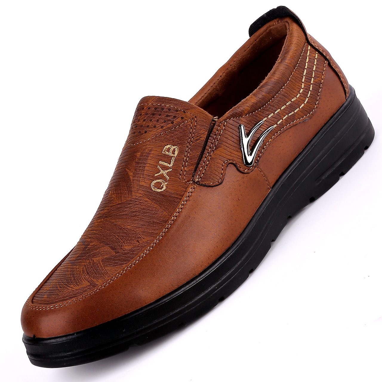 New Trademark Size 38 47 Upscale Men Casual Shoes Fashion Leather Shoes for Men Spring Autumn Men'S Flat Shoes Driving Sneakers