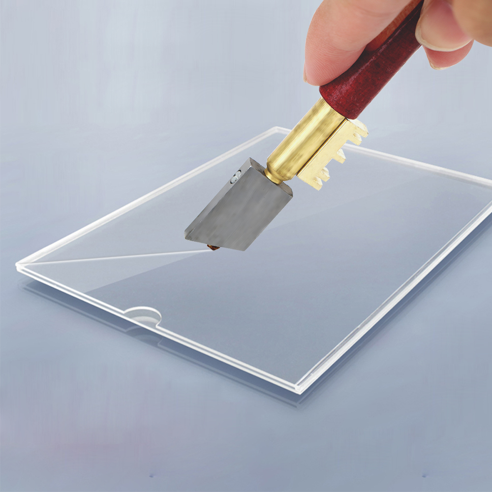 NICEYARD Portable Single Diamond Glass Cutter Sharp Knife  Glass Diamond Cutting Tool  17mm