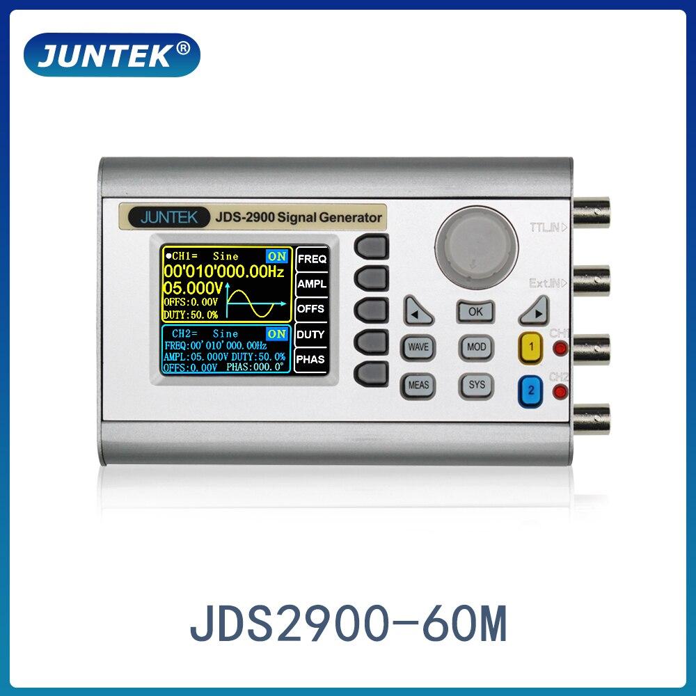 JUNTEK JDS2900-60M 60MHz DDS генератор сигналов с цифровым управлением Двухканальный измеритель частоты произвольный генератор сигналов