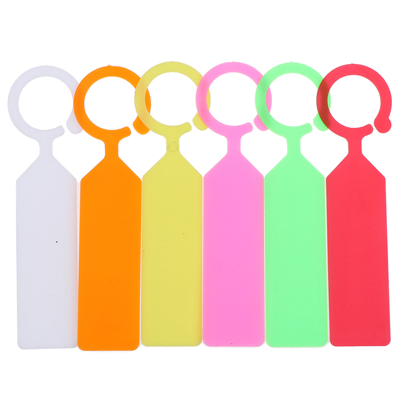Plastic Hanging Plant Tags Yard Gardening Labels Pot Marker Ring Buckle Branches