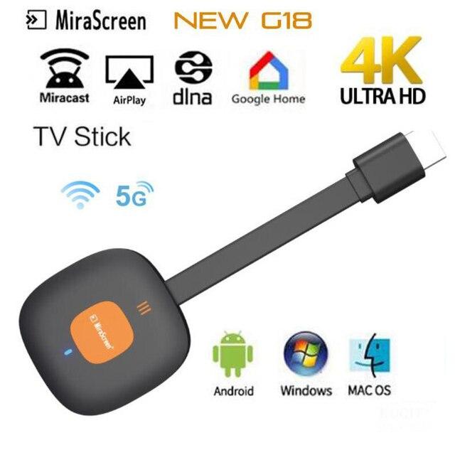 4K HDMI Wireless Dongle Adapter 2.4GHz WiFi Display Empfänger für TV Projektor