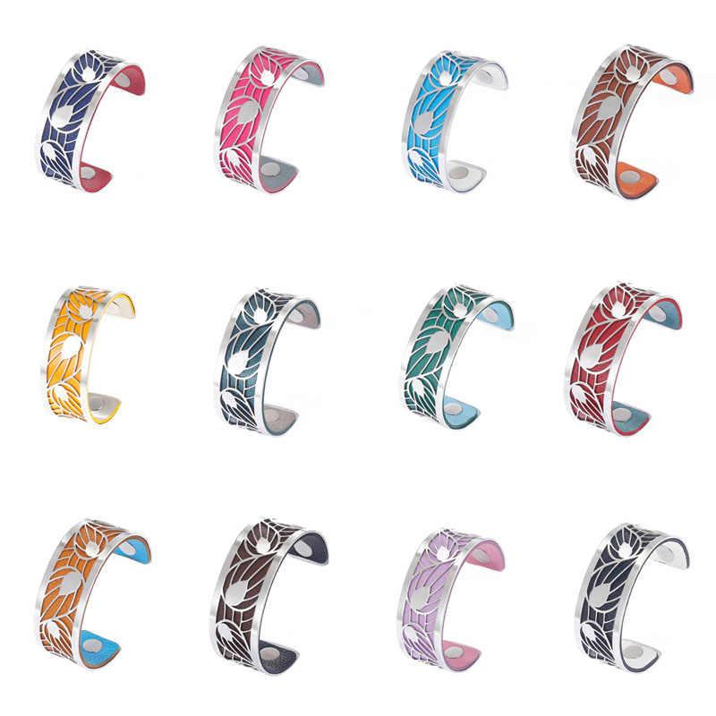 Yoiumit Argent bransoletka mankietowa bransoletki dla kobiet Cremo stal nierdzewna bracelets Manchette wymienna skórzana bransoletka