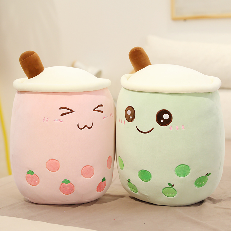Food Plush Simulation Stuffed Snack Pillows Cushion Props Milk Tea Toys Gift