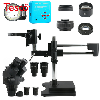 3.5X-90X Dual Arm Stand Zoom Simul Trinocular Stereo Microscope + 38MP 2K HDMI USB Industrial Camera for Phone PCB Repair luckyzoom stereo zoom microscope focus adjustment arm microscope head holder ring to stand post arbor microscope accessories